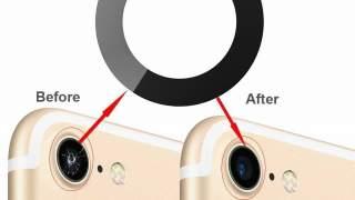 2x Crno Zamjensko Staklo Kamere Za Apple Iphone 8