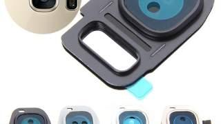 Zadnji Okvir Sa Staklom Kamere Za Galaxy S7 Edge (crna)