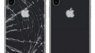 Crno Zadnje Zamjensko Staklo za iPhone 8 Sa Apple Logom