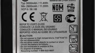 Oem Verizon Lg G2 Vs980 Baterija Bl-t7 3000mah 3.8v