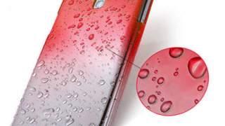 Zaštitna Ka Za Samsungmas Galaxy S4 Crvena S Kapljicama Vode